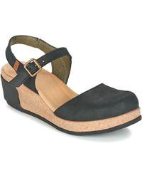 El Naturalista - Leaves Women's Sandals In Black - Lyst