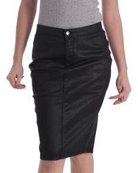Gas - 335608 Skirt Women Black Women's Skirt In Black - Lyst