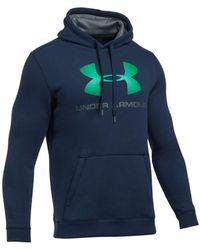 Under Armour - Rival Fitted Graphic Hoodie Men's Sweatshirt In Multicolour - Lyst