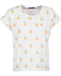 Petit Bateau - Fille Women's T Shirt In White - Lyst