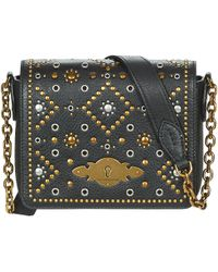 f8da4e1d5c Polo Ralph Lauren - Supertouch Studding Women s Shoulder Bag In Black - Lyst