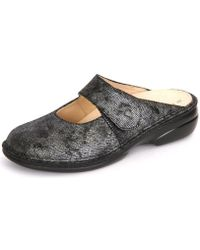 Finn Comfort - Stanford Blackargento Iras Women's Clogs (shoes) In Silver - Lyst