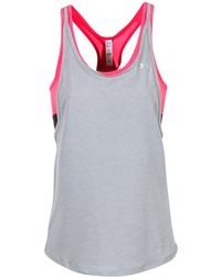 Under Armour | Hg Armour 2-in-1 Women's Vest Top In Grey | Lyst
