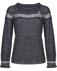 Mado Et Les Autres - Ultra-soft Jumper With Frill Sleeves 18hpul108_gr001 Grey Woma Women's Jumper In Grey - Lyst