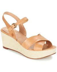 Casual Attitude - Gerte Women's Sandals In Beige - Lyst