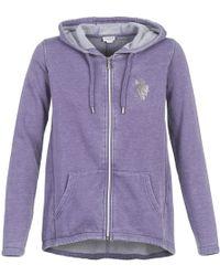 U.S. POLO ASSN. - Martha Women's Sweatshirt In Purple - Lyst