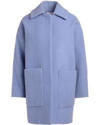 Jucca - Cappotto Azzurro Anice Corto Women s Coat In Other - Lyst 2e50981199bf