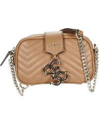 Guess - Violet Mini Crossbody Camera Women's Shoulder Bag In Brown - Lyst