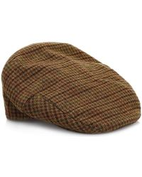 510e5cc8308 Barbour Mens Dark Brown Club Check Crieff Cap in Brown for Men - Lyst