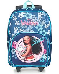 Disney - Vaiana Sac A Dos A Roulettes Girls's Children's Rucksack In Blue - Lyst