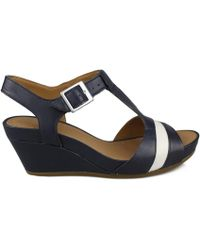 09127298e6d Clarks - Rusty Rebel Women s Sandals In Blue - Lyst
