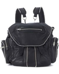 Alexander Wang - Mini Marti Black Leather Backpack With Studs Men's Backpack In Black - Lyst