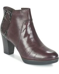 Tamaris - Vicha Women's Low Ankle Boots In Red - Lyst