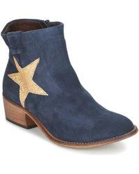 Betty London - Makana Women's Low Ankle Boots In Blue - Lyst