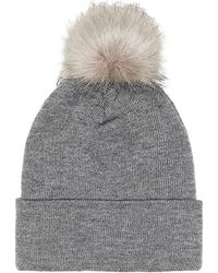 Guess - Aw6452 Wol01 Hat Accessories Grey Women's Beanie In Grey - Lyst