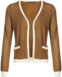 Mado Et Les Autres - Lurex Knit Cardigan Merveille Girl Brown Woman Spring/summer Co Women's In Brown - Lyst