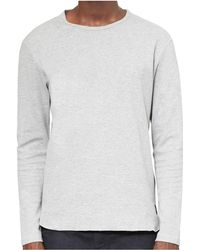 Only & Sons - Herluf Curved O - Neck Grey - Lyst