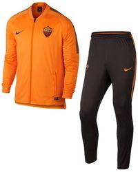 912de12e1b Nike - AS Roma Dry Squad Track Suit hommes Ensembles de survêtement en  orange - Lyst