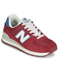 7aaff8885dbbe New Balance 565 Lifestyle Mode De Vie Men's Shoes (trainers) In Red ...
