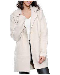 Infinie Passion - Beige Thick Coat 00w061271 Women's Coat In Beige - Lyst
