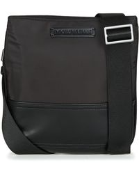 Emporio Armani - Omnia Flat Messenger Bag Men's Pouch In Black - Lyst