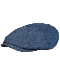 Ted Baker - Flat Cap Mxh Treacle Men s Beanie In Blue - Lyst 6dc24cad7b0f