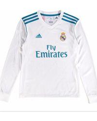 adidas - 2017-18 Real Madrid Long Sleeve Home Shirt - Kids (zidane 5 505568619