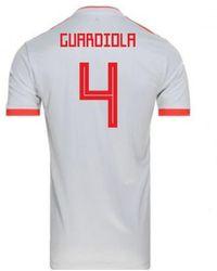 adidas - 2018-2019 Spain Away Football Shirt (guardiola 4) Men s T Shirt 1d5db1c63