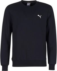 PUMA - ESS CREW SWEAT hommes Sweat-shirt en Noir - Lyst