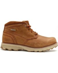 Caterpillar | Cat Elude Waterproof Leather Boots In Brown Sugar P720687 Men's Mid Boots In Brown | Lyst