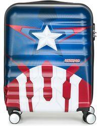 American Tourister - Captain America 55cm 4r Men's Hard Suitcase In Blue - Lyst