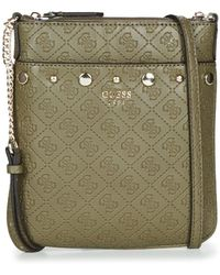 Guess Green Messenger Bag With Logo Print in Green for Men - Lyst f5fddefd6fc1c