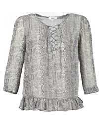 Suncoo - Lana Women's Blouse In Grey - Lyst