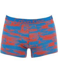 Calvin Klein Jeans - Men's Printed Trunks, Blue Men's In Blue - Lyst