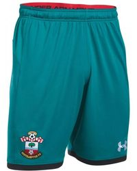 Under Armour - 2017-2018 Southampton Away Football Shorts Women's Shorts In Green - Lyst