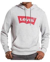 Levi's - Levis Batwing Logo Hoodie Men's Sweatshirt In Grey - Lyst