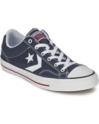5f08b79681f Converse - Star Player Core Canv Ox Women s Shoes (trainers) In Blue - Lyst