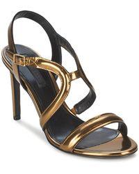 BOSS Black - Lenia Women's Sandals In Gold - Lyst