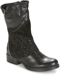 Dream in Green - Hanpi Women's Mid Boots In Black - Lyst