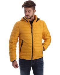 Byblos Blu - 669501 Down Jacket Man Yellow Men's Coat In Yellow - Lyst