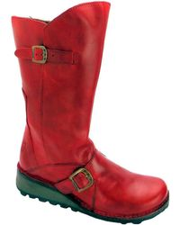 Fly London - Mes Women's High Boots In Red - Lyst