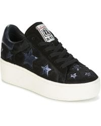 5427bd6b26fdf8 Ash  Cult  Holographic Trim Leather Flatform Sneakers in Black - Lyst