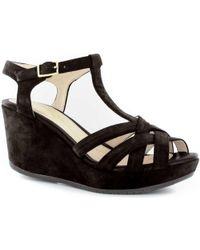 Stonefly - 108300 Wedge Sandals Women Black Women's Sandals In Black - Lyst