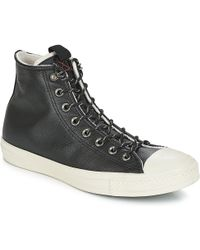 d4a6eae1ca3a Converse - Chuck Taylor All Star Leather Hi Men s Shoes (high-top Trainers)