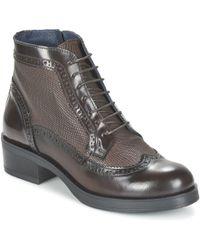 Betty London - Foxine Women's Mid Boots In Brown - Lyst