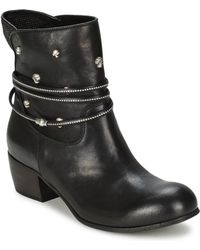 FRU.IT - Atina Women's Low Ankle Boots In Black - Lyst
