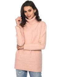 Baukjen - Long Sleeves Straight Jumper Lottie Roll Light Pink Woman Spri Women's Jumper In Pink - Lyst