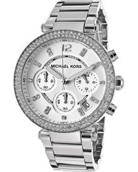 MICHAEL Michael Kors - Mk5353 Women's Analogue Watches In Silver - Lyst