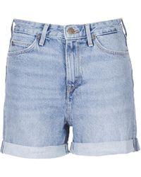 Lee Jeans | Mom Short Women's Shorts In Blue | Lyst