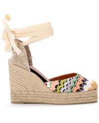 Castaner - By Missoni Carina Multicolour Sandal With Wedge. Women's Shoes (pumps / Ballerinas) In Other - Lyst
